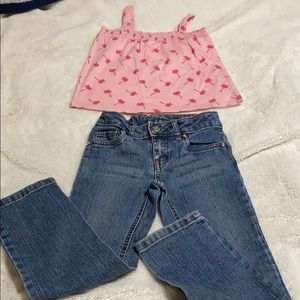 Toddler Tank and Jeans.
